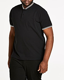 Baseball Collar Black Polo L