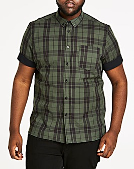 Check Stretch Poplin S/S Shirt L