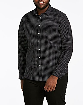Polka Dot Print Long Sleeve Shirt Regular