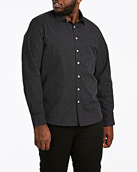 Polka Dot Print Long Sleeve Shirt Long
