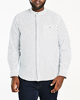Ditsy Grandad Collar L/S Shirt R