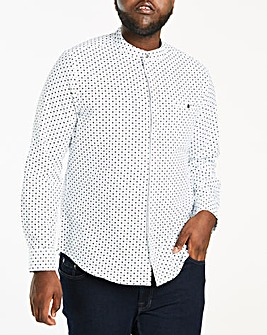 Ditsy Grandad Collar L/S Shirt L