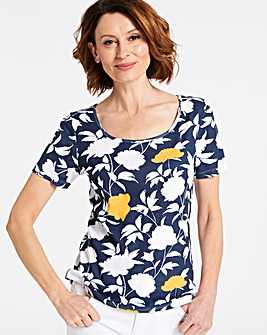 Floral Value Cotton Short Sleeve Top