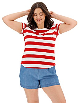 Red Block Stripe T-Shirt