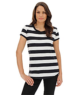 Black Block Stripe T-Shirt