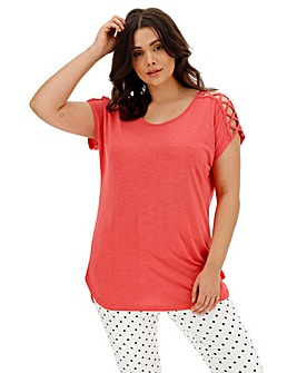 ICON Criss Cross Short Sleeve Top