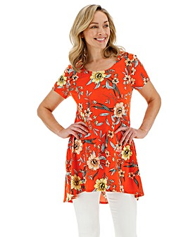 517b6f0da7b8 Short Sleeve Dip Back Tunic