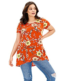 Short Sleeve Dip Back Tunic