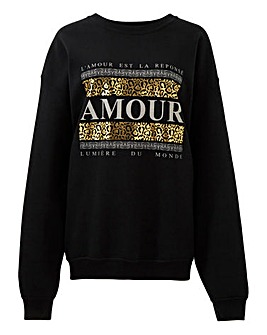 Gold Amour Placement Sweatshirt