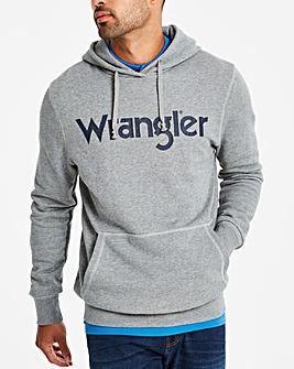 Wrangler Grey Melange Logo Hoody