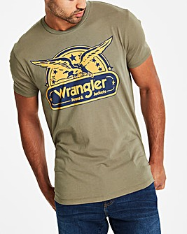 Wrangler Dusty Olive Eagle T-Shirt