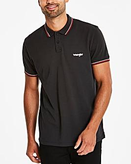 Wrangler Black Pique Polo
