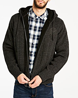 Schott Hooded Knit Zip Through