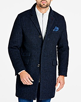 Joe Browns Herringbone Wool Overcoat