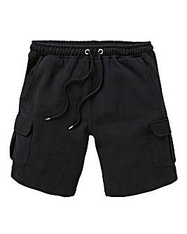 Black Jersey Cargo Shorts