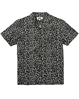 Leopard Print Viscose Shirt Long