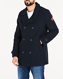 Firetrap Navy Wool Mix Peacoat