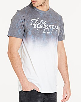 Firetrap Blackseal Fade T-Shirt Long