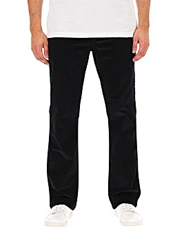 Jacamo Black Stretch Cord Trousers