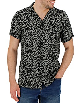 Leopard Print Viscose Shirt Regular