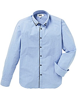 Double Collar Textured Shirt L