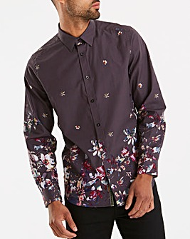 Joe Browns Border Print Floral Shirt L