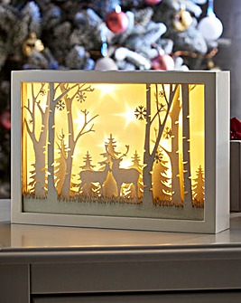 Christmas Countryside Wooden LED Scene