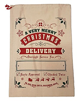 Gift Sack with Name Panel- Delivery