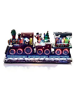 Christmas Train with LED Wheels