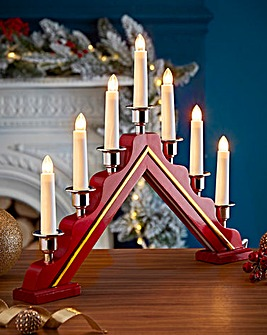 Red Wooden Candle Bridge