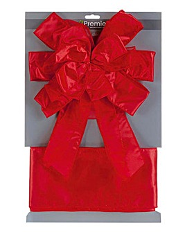 Ribbon Door Bow and Wrap