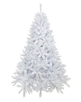 White Shimmer Pine Tree Iridescent Tips