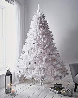 White Shimmer Pine Tree Iridescent Tips
