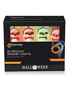 Flashing LED Skull String