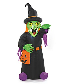 1.2M Witch Inflatable with lights