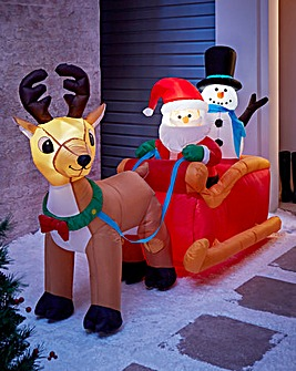 2M Inflatable Outdoor Santa