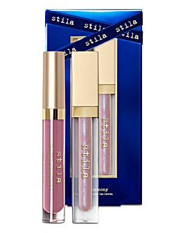 Stila Pink Harmony Liquid Lipstick & Lip Gloss Set