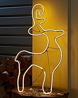 75cm Neon Standing Outdoor Reindeer