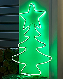 70cm Neon Standing Outdoor Xmas Tree