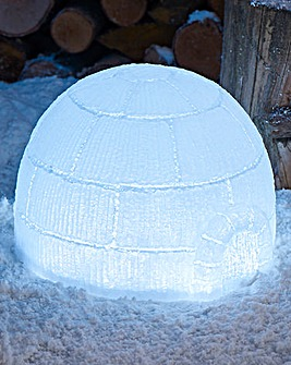 Outdoor Lit Igloo