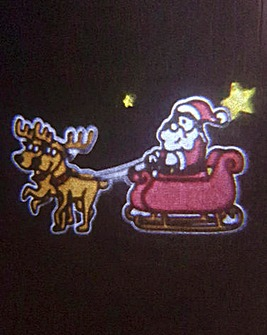 Animated Projector Santa & Reindeer