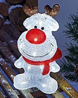 31cm Acrylic Reindeer