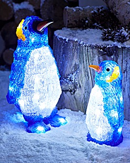 Set of 2 Acrylic Penguins