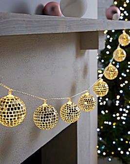 Disco Ball 10 Battery String Lights