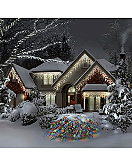 Warm White Snowing Icicle Lights