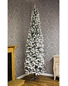Snow Flocked Slim Tree