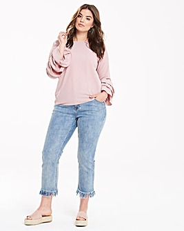 Alice & You By Glamorous Frayed Jeans
