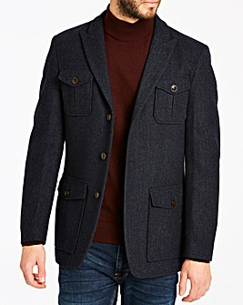 Joe Browns Navy 4 Pocket Wool Mix Jacket Regular