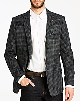 Joe Browns Black Check Wool Blazer R
