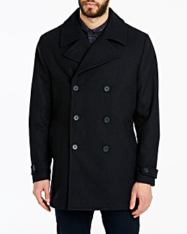 Peter Werth Navy Wool Pea Coat